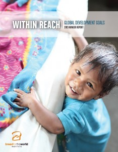 2013 Hunger Report Cover